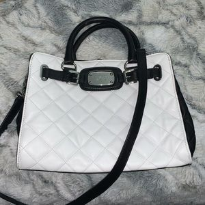 Michael Kors White Quilted Hamilton Tote